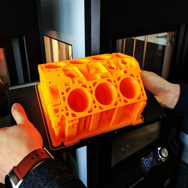 This engine block prototype could not have turned out better.  #3dprint #3dprinter #3dprinting #prototyping #prototype #makerbot #maker #nyc #automotive #auto
