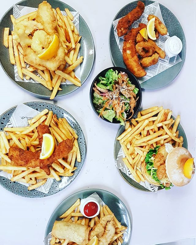 Fish and chips dine in or take away available Friday to Sunday from 4pm !  Freshly battered delightful fish, seafood and lots of other treats!  #fishandchips #nzfish #takeaways #fastfooddoneright #weekendtreat
