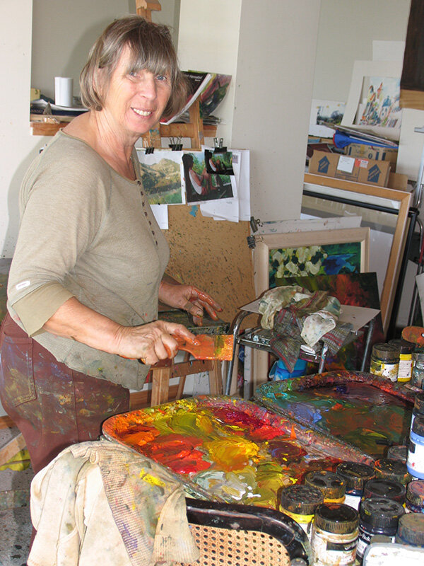 Barbara at work in her studio.