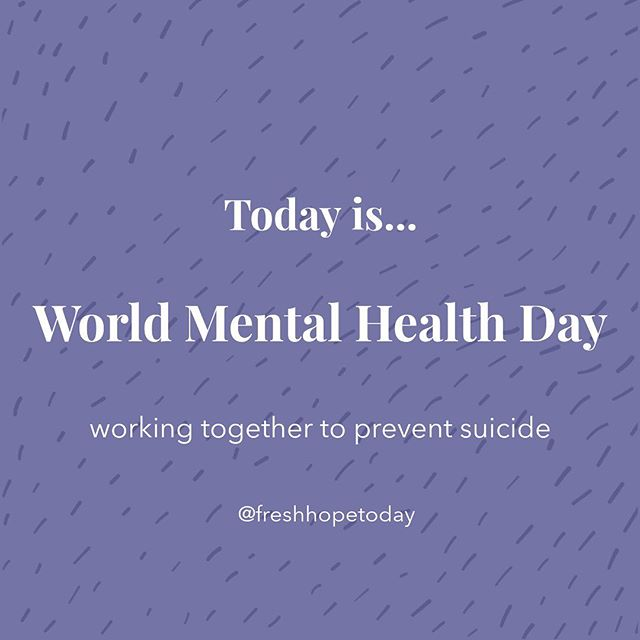World Mental Health Day 2019 Every 40 seconds, someone loses their life to suicide. #40seconds With awareness, commitment and action we can save lives. Together.