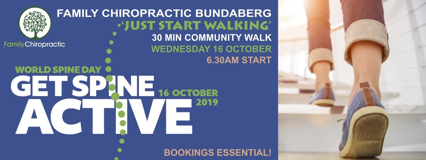 - Family Chiropractic Bundaberg is encouraging the community to get active this World Spine Day and take steps to improve their spinal health.