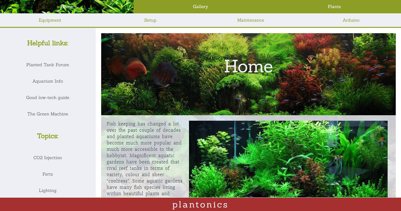 Plantonics - Plantonics is an aquatic plant re-seller who needed an easy to navigate site with plenty of visual eye-candy, this was our solution.