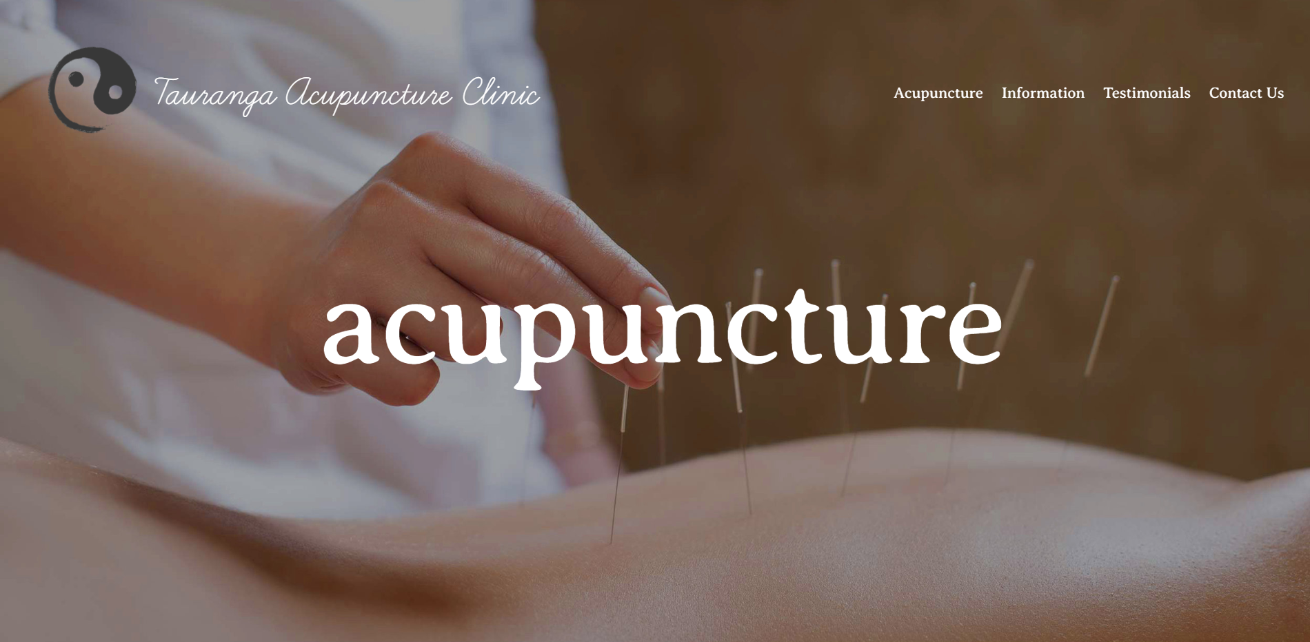 Tauranga Acupuncture Clinic - We have recently been working on a lovely updated site for Tauranga Acupuncture Clinic.