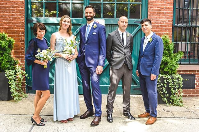 Loving the trend I'm seeing with mix-gender bridal parties.  #squadgoals #groomspeople