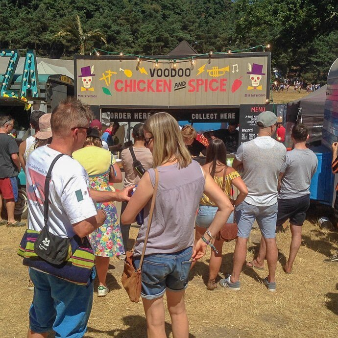 Voodoo Chicken - Glastonbury - Voodoo Chicken is currently trading at Lower Marsh and just come back for their festival season. This year thy successfully participated at Glastonbury this summer