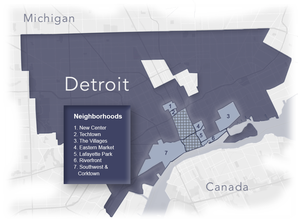 Investing in Detroit's neighborhoods. - Greatwater is focusing its efforts on several key neighborhoods that offer the greatest potential for dense, mixed-use development. We believe those neighborhoods are attractive places to live and offer significant investment upside.