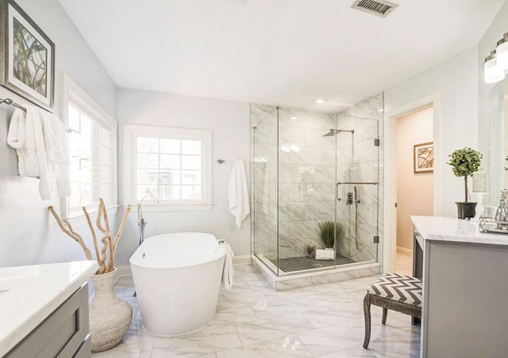 Chevy Chase Maryland Master Bath Transformed