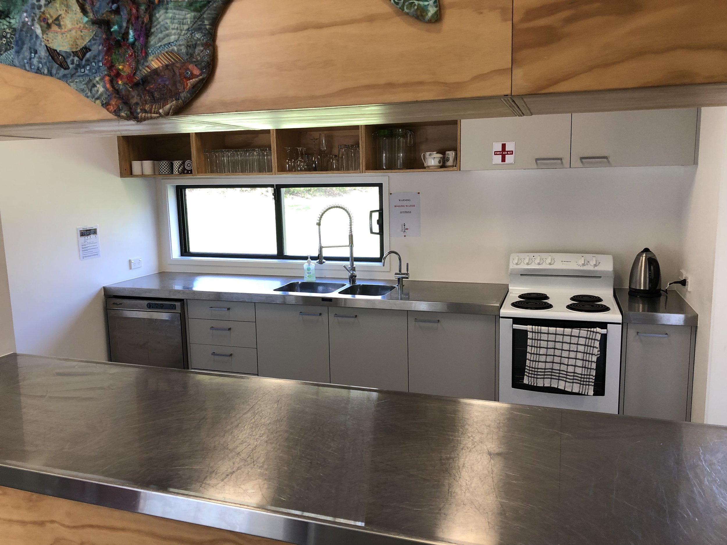 Kitchen with catering equipment available. Click to enlarge image.