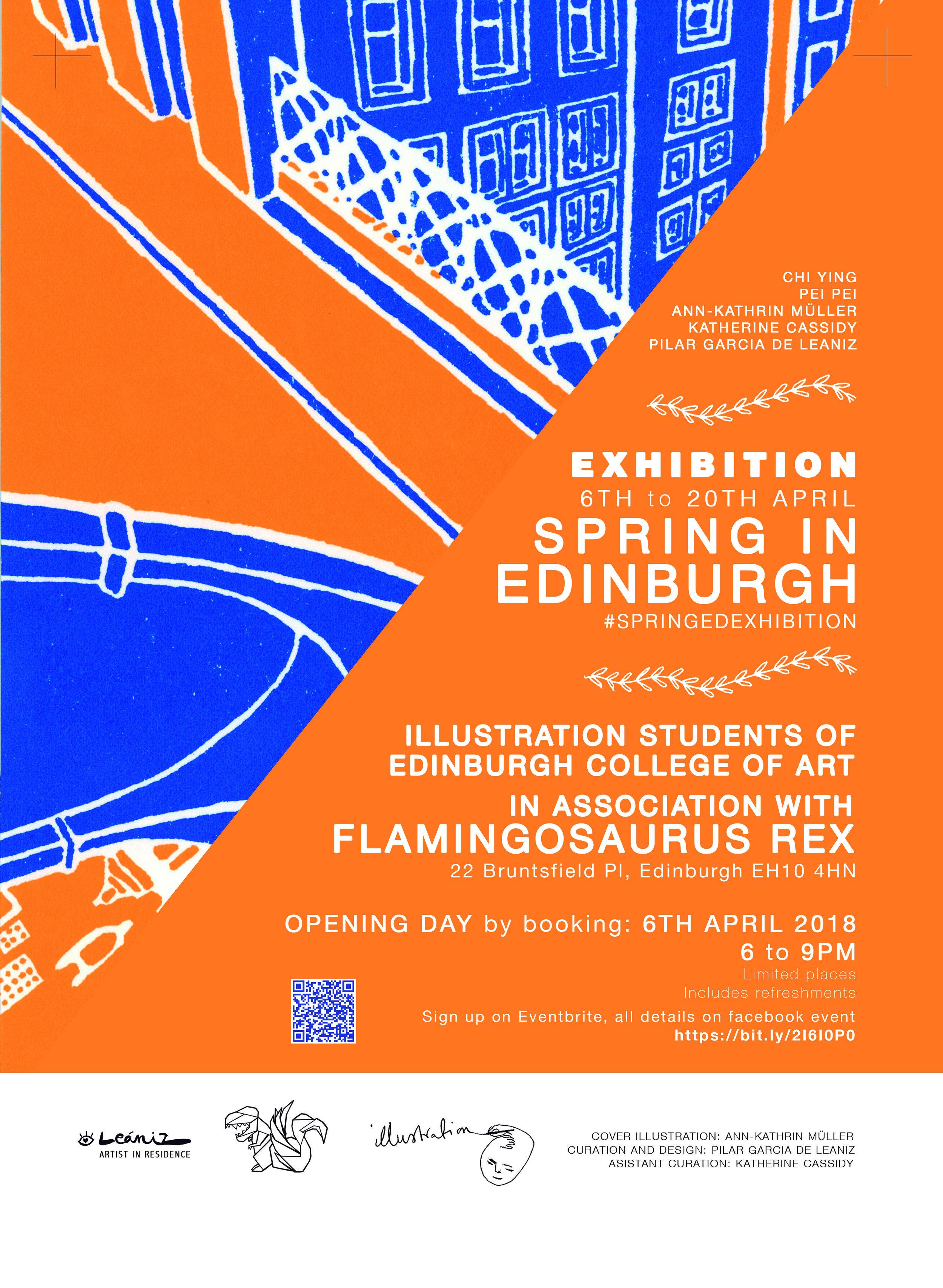 Exhibition + Curation  Flamingosaurus Rex art shop gallery + the Edinburgh College of Art, 2018.