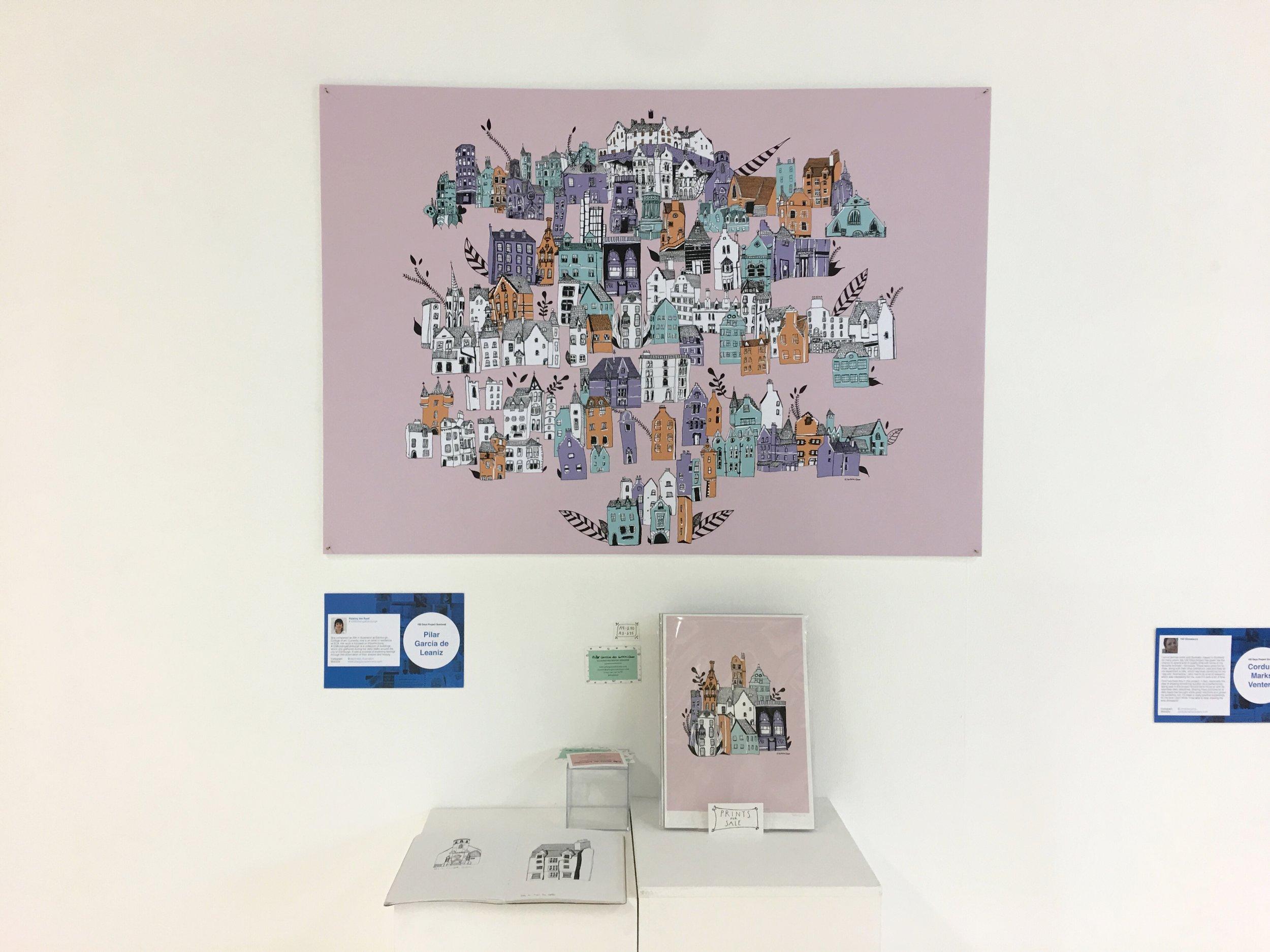 Exhibition  100 Days Project, the University of Edinburgh, 2018