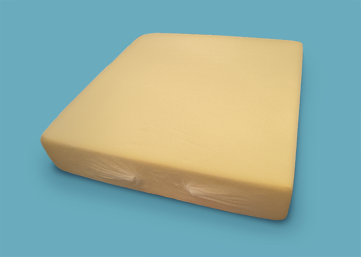 Soft Yellow Foam - The yellow foam is a popular choice for seatbacks on Sofas, to provide comfortable back support. The foam is high density and top quality and lasts for a very long timeAll sizes in inches.Choose to add a soft, polyester sheeting (Wadding) over your cushions for that extra bit of padding.Choose to have your cushions with or without stockinette. Stockinette reduces friction between the cushions and covers to reduce wear and tear, and it also makes it easier insert and remove the cushions.For shaped foam or unique orders, feel free to contact us for a quote.