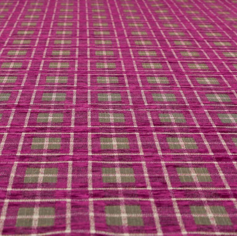 Ketu Checkered Fuschia