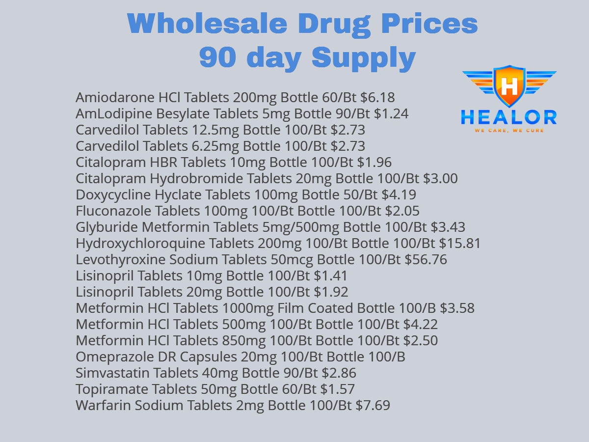 Our Story - In August of 2017, We started this company HEALOR with desire to provide affordable healthcare for everyone. Our patients hail from a wide range of financial background.We started wellness plans for patients with no insurance costing as little as $40/month and added a onsite pharmacy to provide drugs at wholesale cost to our patients. We have attached sample list of drug prices that are commonly prescribed. We can order any non controlled medication andour patients pay what we pay.So if you or someone you know, struggles with healthcare costs, send them our way to sign up for our wellness plans and start journey to a better health.At HEALOR, We Care, We Cure.Dr. Raj Singh MD, FACP,FASN