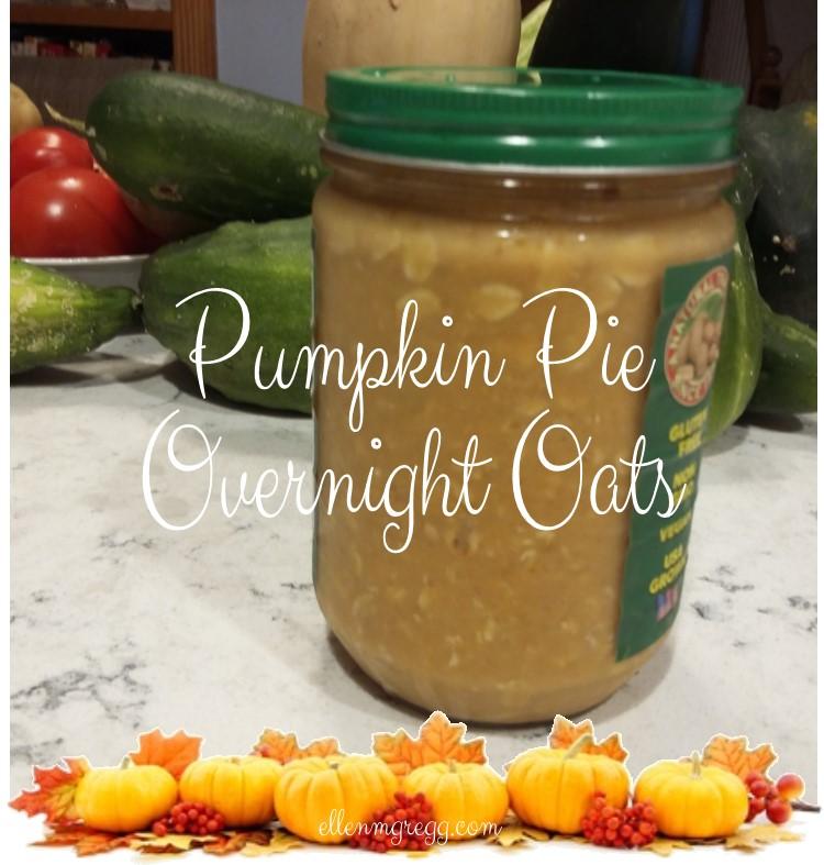 Pumpkin Pie Overnight Oats ~ In a word: Yum!