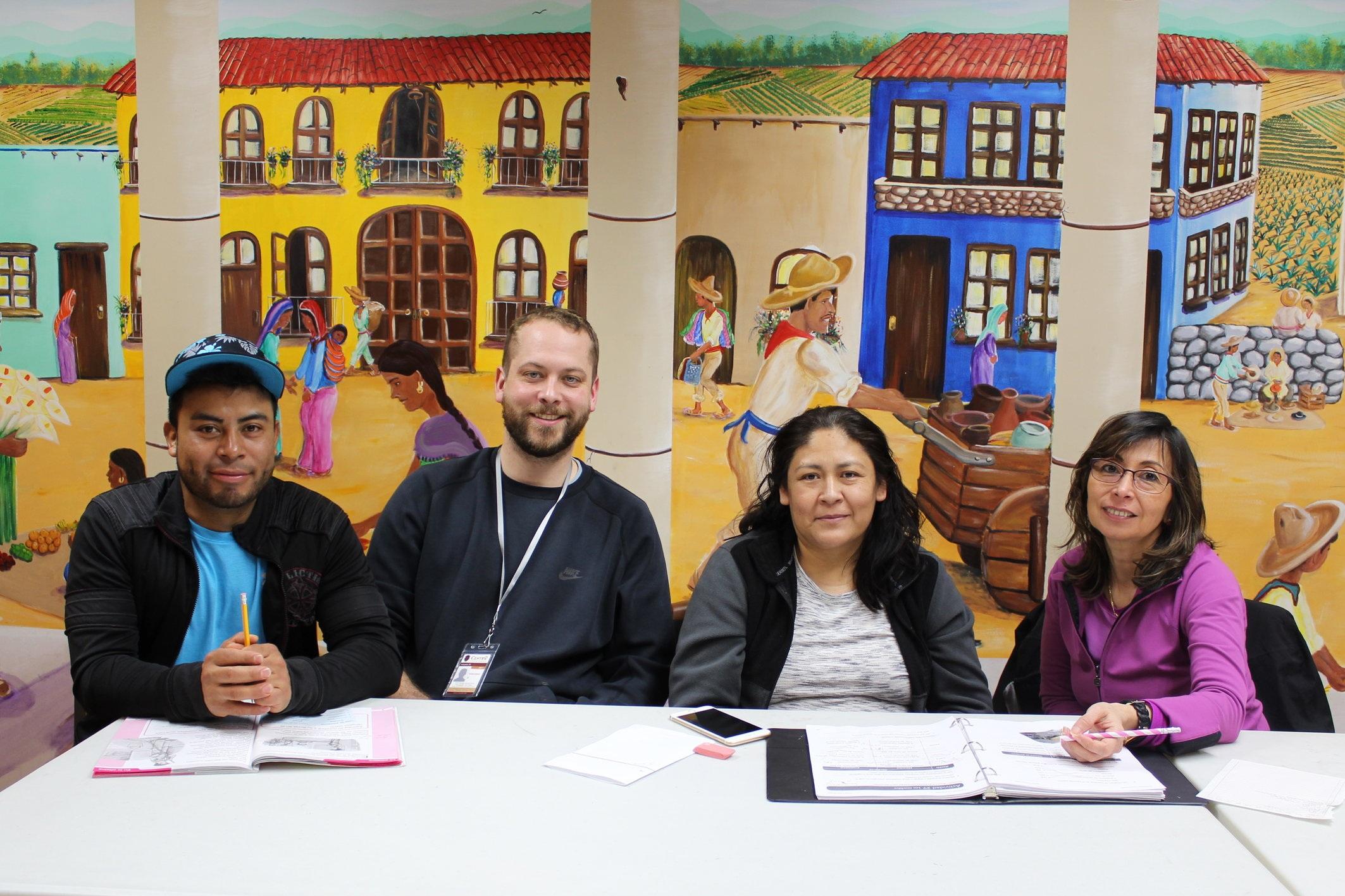 Photo caption: Adult Literacy class at Centro Tyrone Guzman.