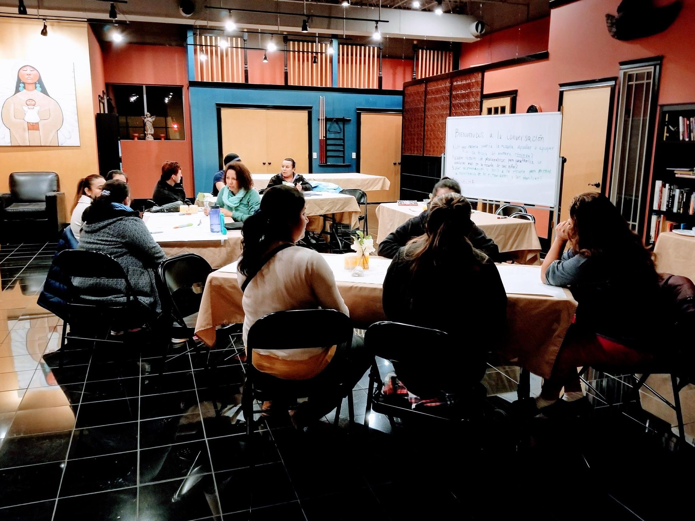 Photo caption: Family engagement workshop at Centro Tyrone Guzman.