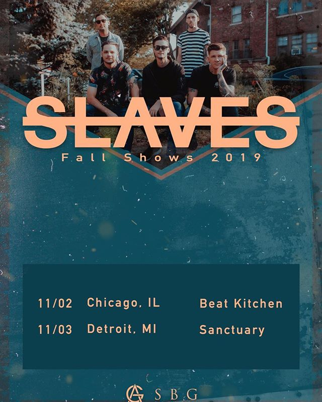 More shows added! Detroit and Chicago tag some friends who need to come to one of these shows with you! Tickets are at slavesband.com 🤘🏼🤘🏼