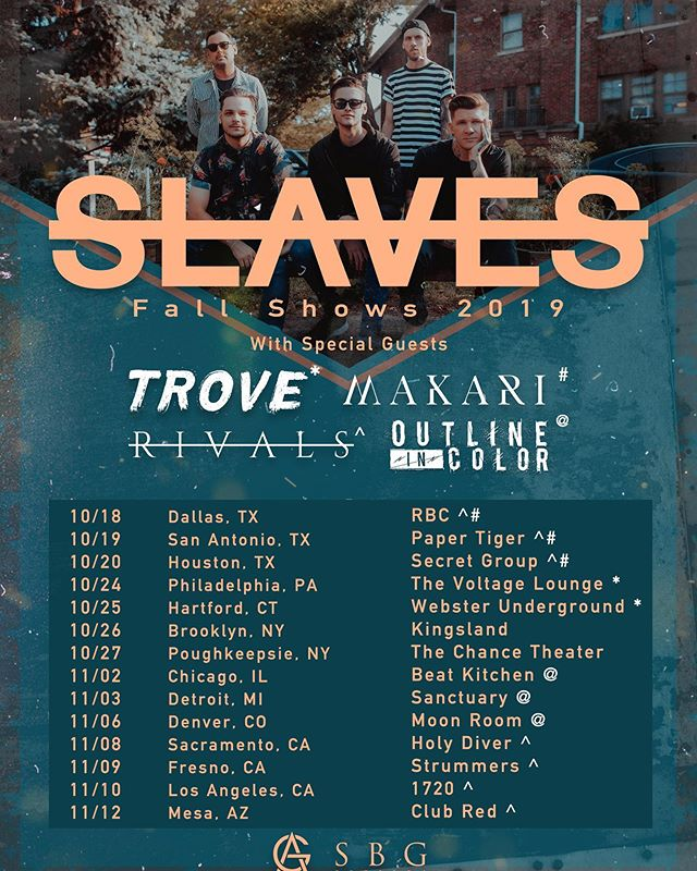 Here's a list of some headlining shows we will be doing around the country with some really talented friends! @makariband @wearervls @outlineincolor @trovetheband which show will you be at? 🔺🔻