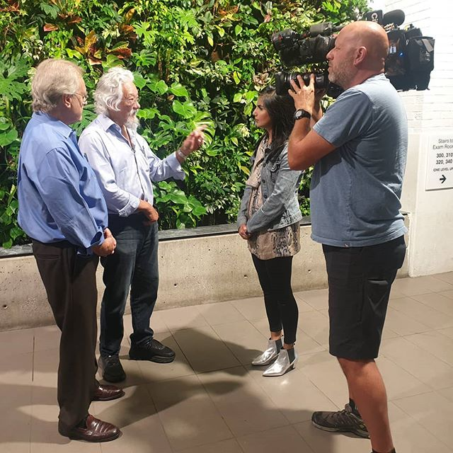 Thank you @citynewstoronto for stopping by to talk climate change with us.