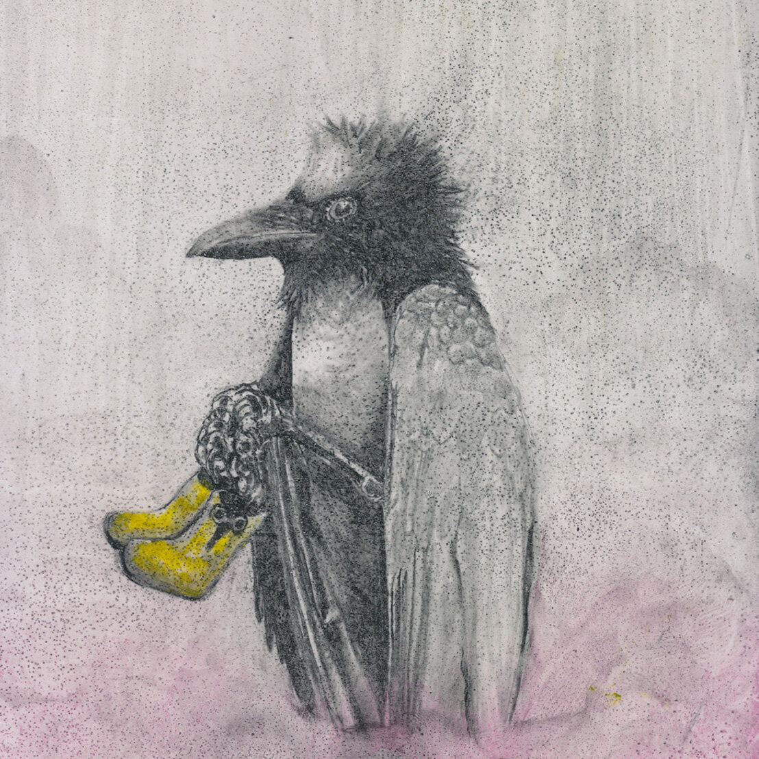 detail, panel from Ergo Sum: A Crow a Day
