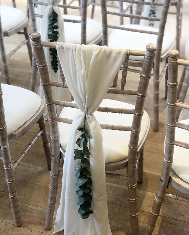 A few more eucalyptus pics...so pretty when used to style your chairs 🍃