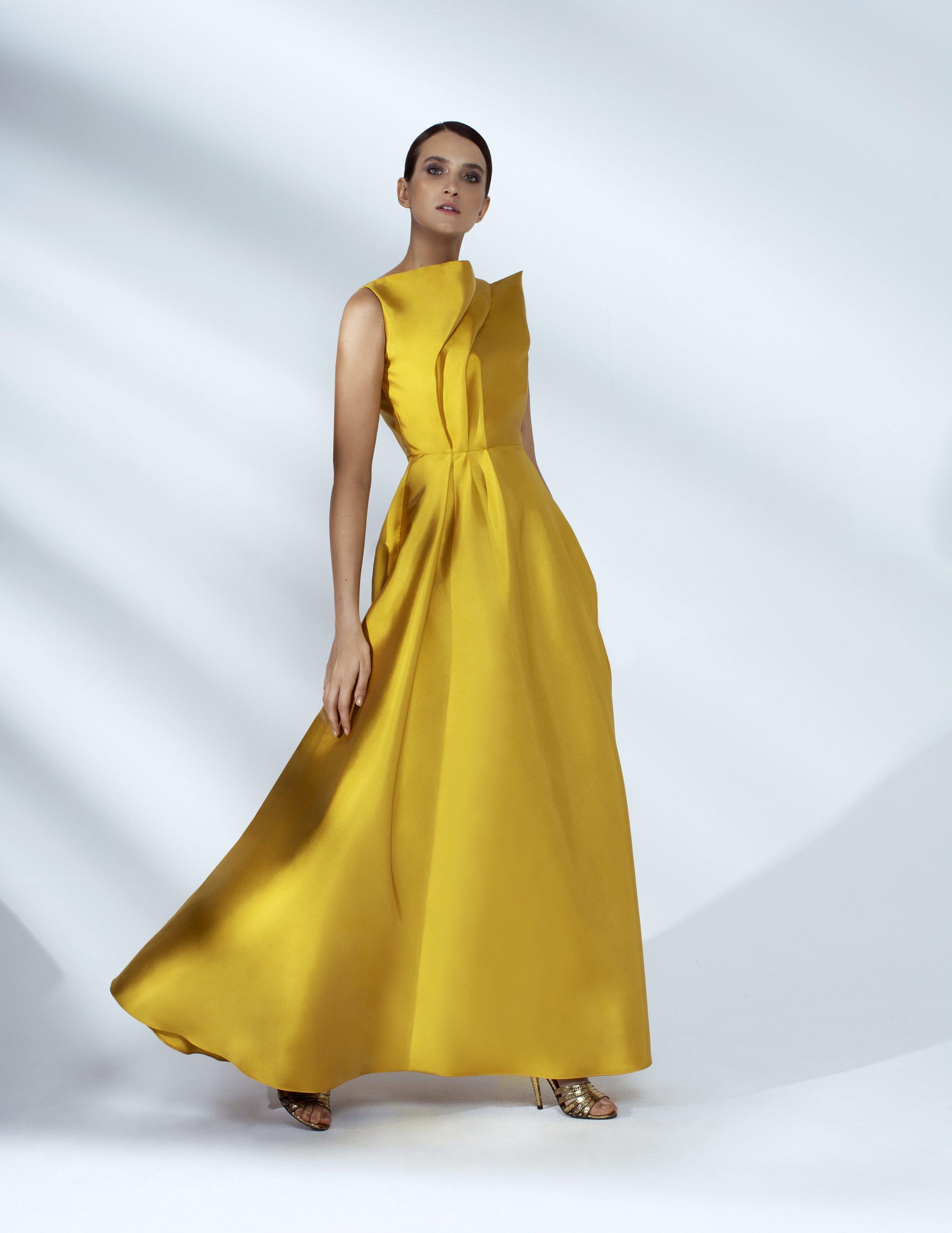 Style # - SS200016   Vanessa  sleeveless draped maxi dress