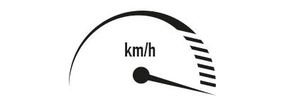 Geschwindigkeit 0,3 - 5 km/h
