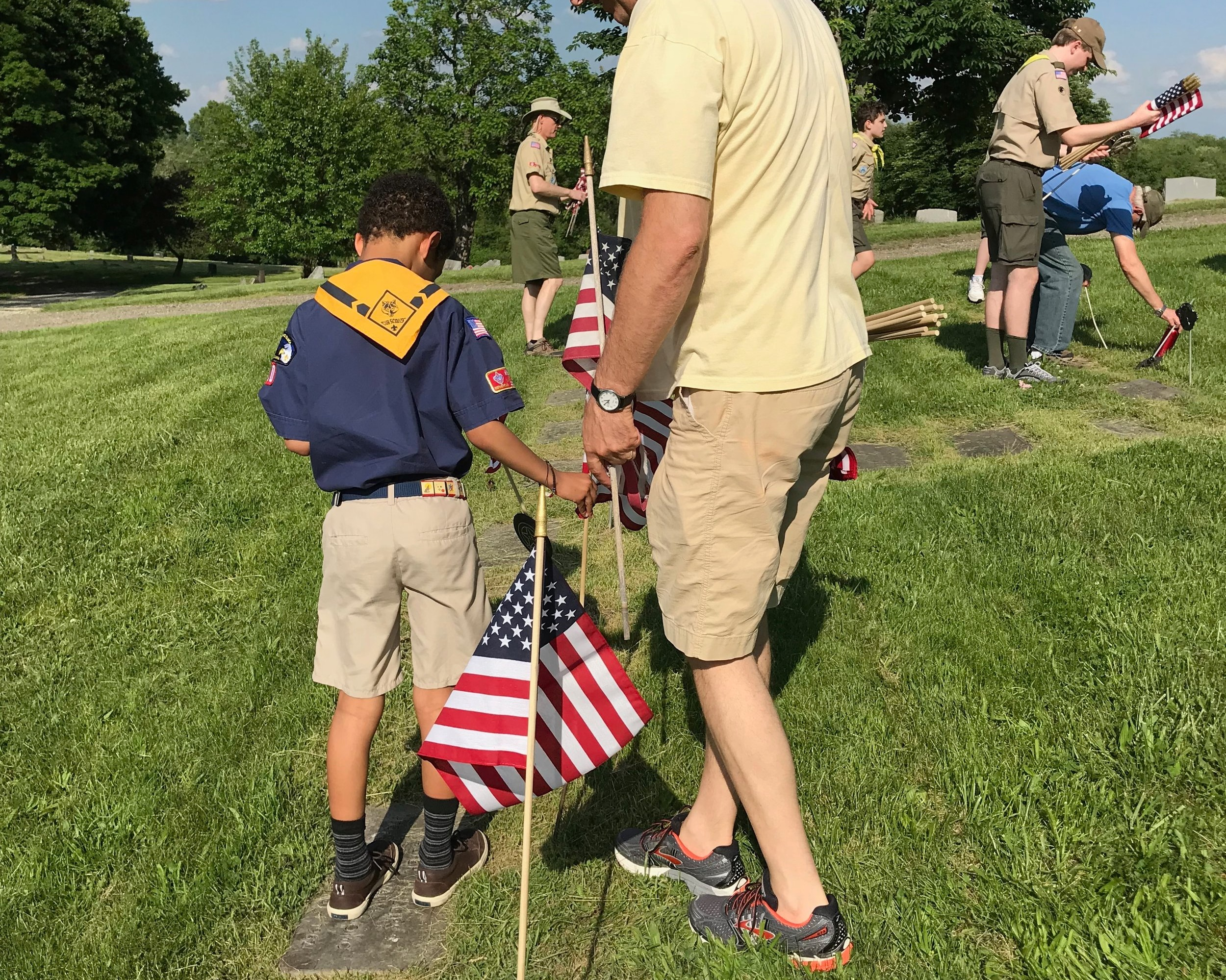 The Scout Oath - On my honor I will do my best to do my duty to God and my country and to obey the Scout Law; to help other people at all times; to keep myself physically strong, mentally awake, and morally straight.