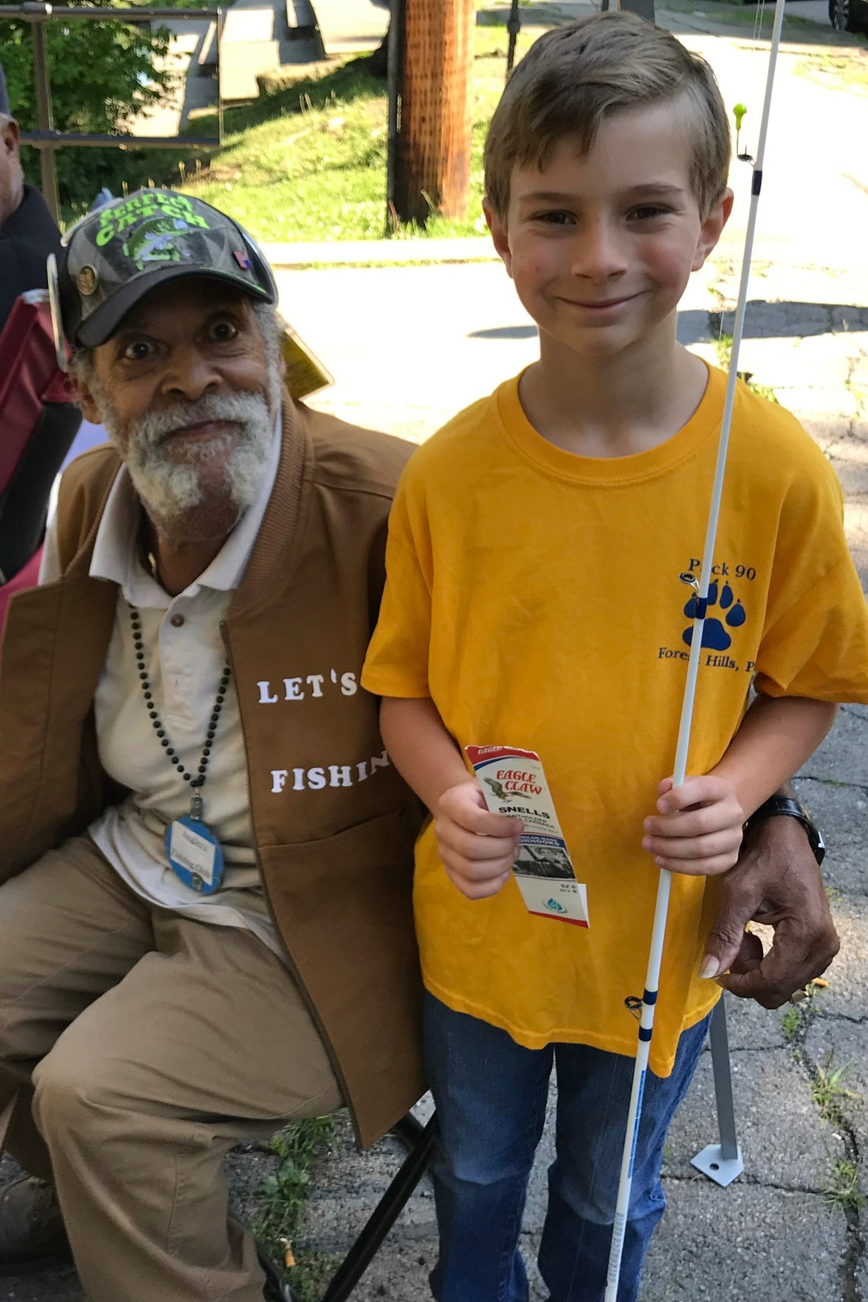It's hard to tell who had more fun at our 2019 Fishing Derby: the scouts or the staff of Let's Go Fishing.