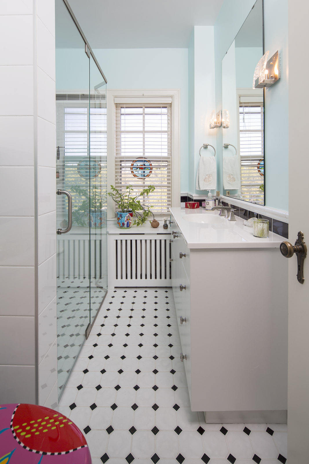 Interior View of a Remodeled Bathroom