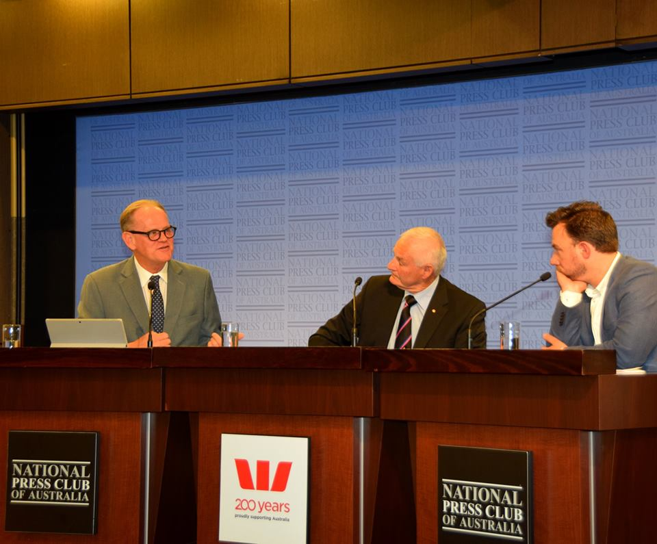 Facilitating Pill Testing Address at The National Press Club of Australia - Facilitating the pill test address at the National Press Club of Australia with Matt Noffs & former AFP commissioner Mick Palmer.Photo credit Lyn Mills