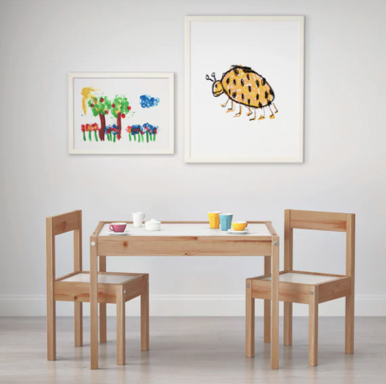 """From tea parties to coloring, this table gets used. All. The. Time. In our house. Our daughter loved """"helping"""" to put the set together and still loves to pretend that she fixing them."""