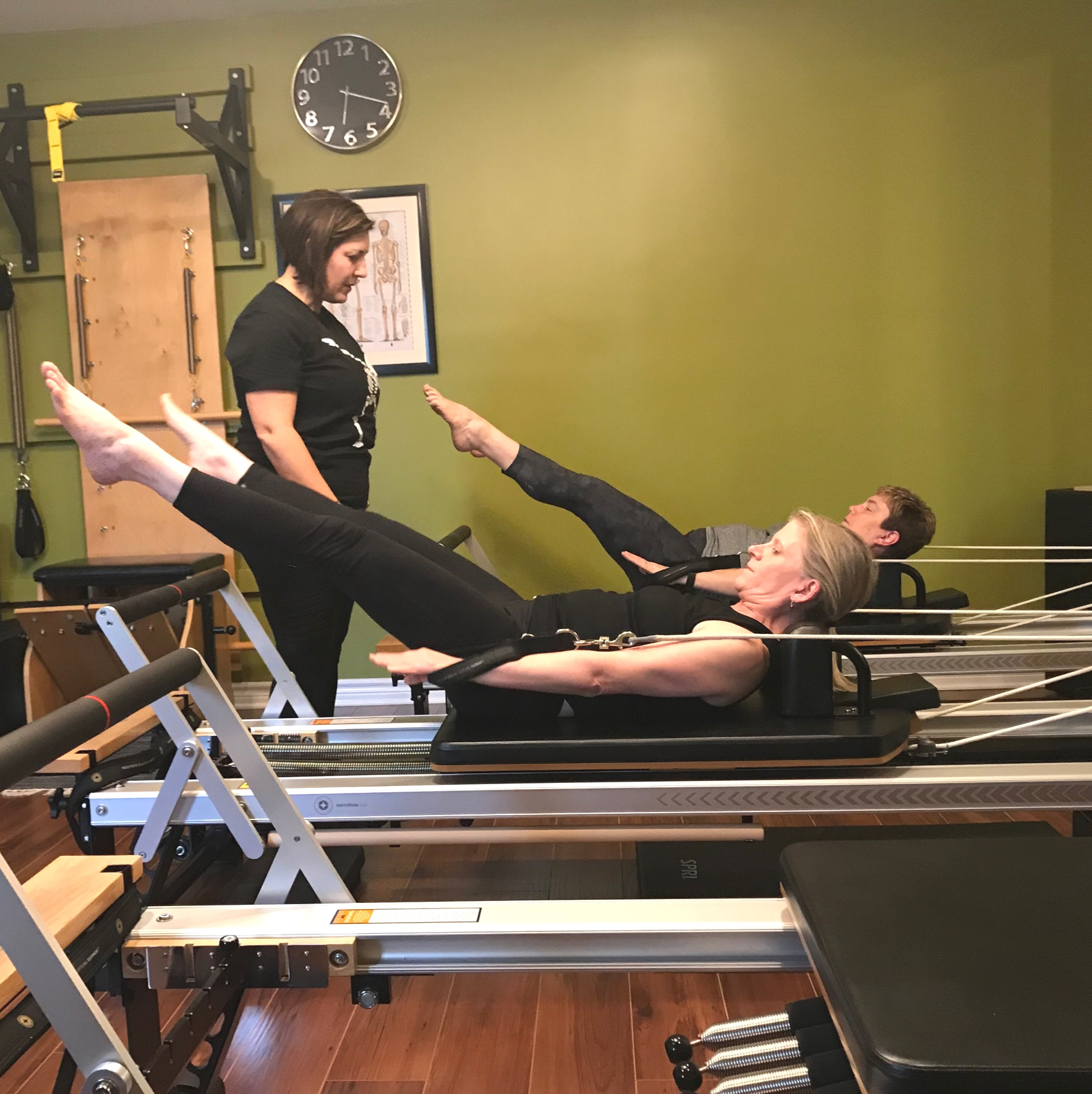 - REFORMER PLUS MIXWithin this class, you will experience the Pilates repertoire on a combination of the Reformer, in addition to either the Wunda Chair, Spine Corrector, Mat, Wall, TRX, etc. Mix it all up and keep it exciting and challenging!
