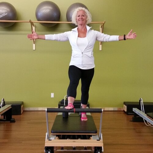 JANICE - With over 15 years teaching fitness in various forms I had heard about Pilates but I did not try it until 1999 when I was informed I required a knee replacement. Staying fit, being active has always been an essential part of my life so I had to find something I could still do without further damage to my knee.I started Pilates mat classes with Kathy Bond from the Saskatoon Pilates Centre, Saskatoon, SK and I was hooked.I loved the way it made me think about how I moved and to find different muscles from the ones I usually wanted to work with – it was mentally and physically hard work! . I knew I had found a form of exercise I would be able to do for years in spite of my damaged knee.Certifications:SPRA (Saskatchewan Parks and Recreation Assoc.) Fitness Certification (1989 – 2004)Can-Fit-Pro Fitness Certification (2004 – present)Mat Initiation 101 course through the Physicalmind Institute in June 2002.Pilates Comprehensive Certification by Core Dynamics Pilates, Santa Fe, NM, with Michele Larsson (mat and equipment). Completed Nov 2005.PMA®-NCPT (Nationally Certified Pilates Teacher)