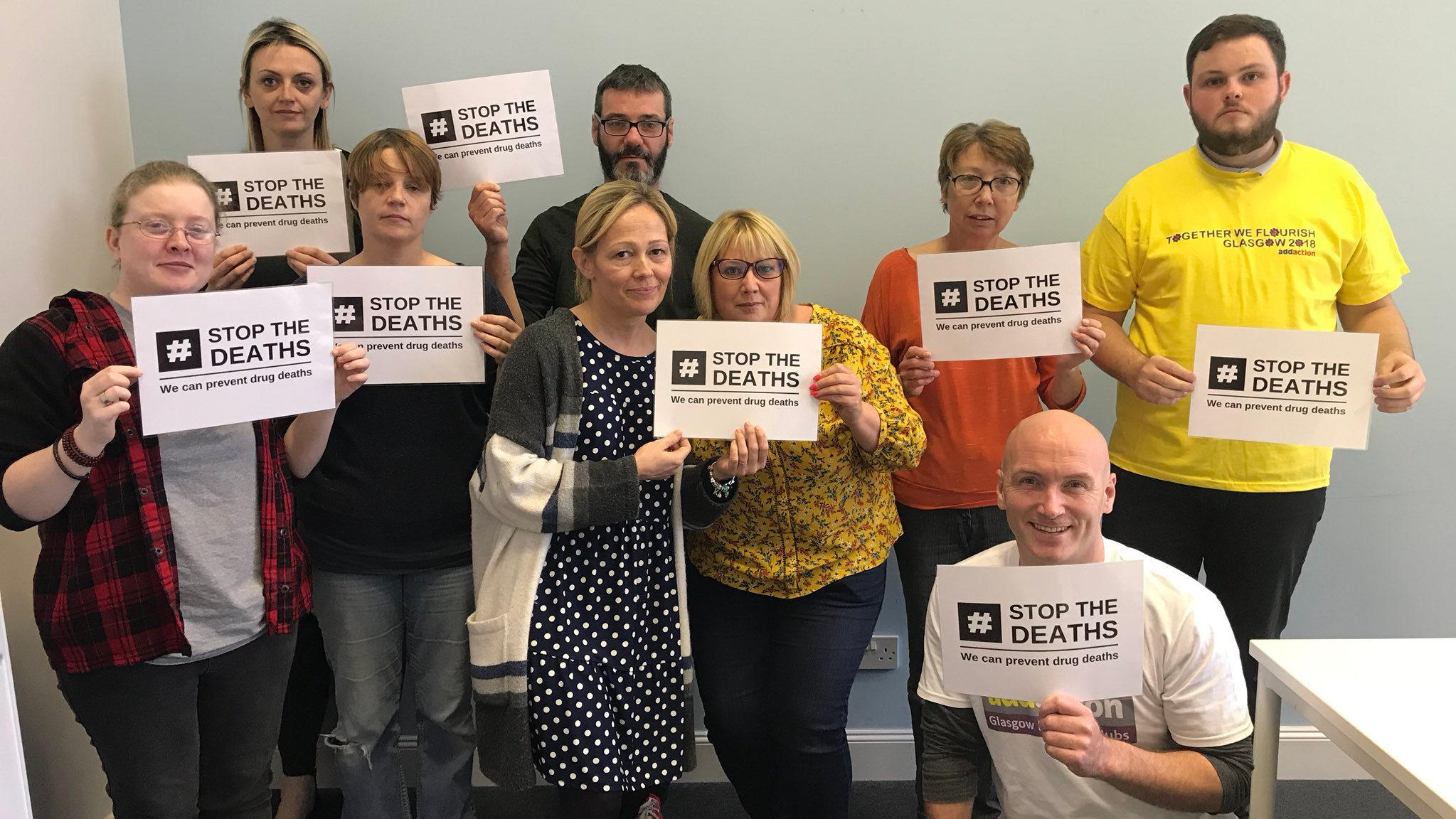 Take a picture with the logo - Join our online gallery of support by printing off the #StopTheDeaths logo and sharing a picture.