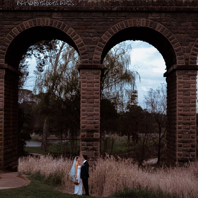 It's cold, overcast and moody, the perfect back drop for wedding portraits