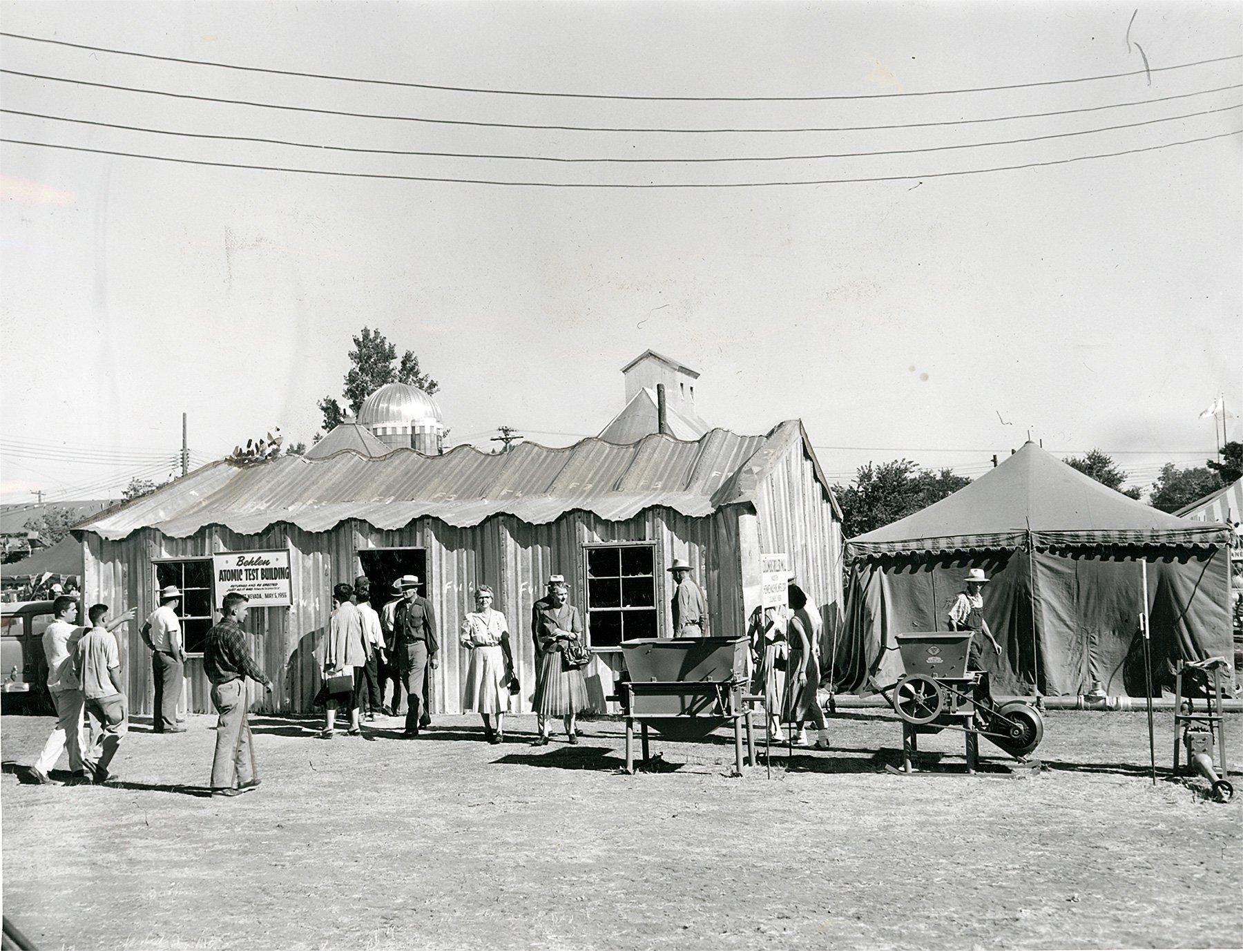 Images:  Behlen Manufacturing Atomic Test Building, Nebraska State Fair, 1955, courtesy of   Nebraska State Historical Society