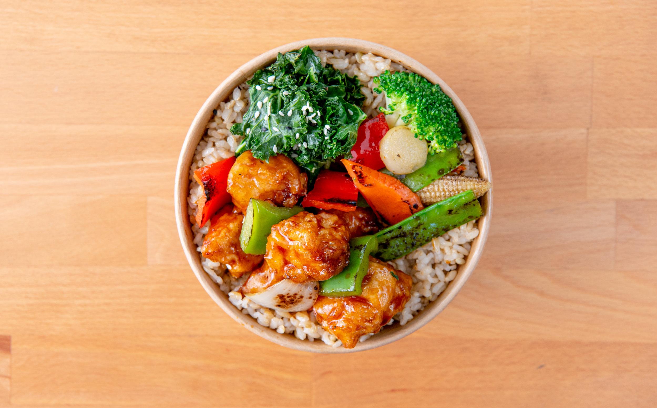Orange Chicken Rice Bowl