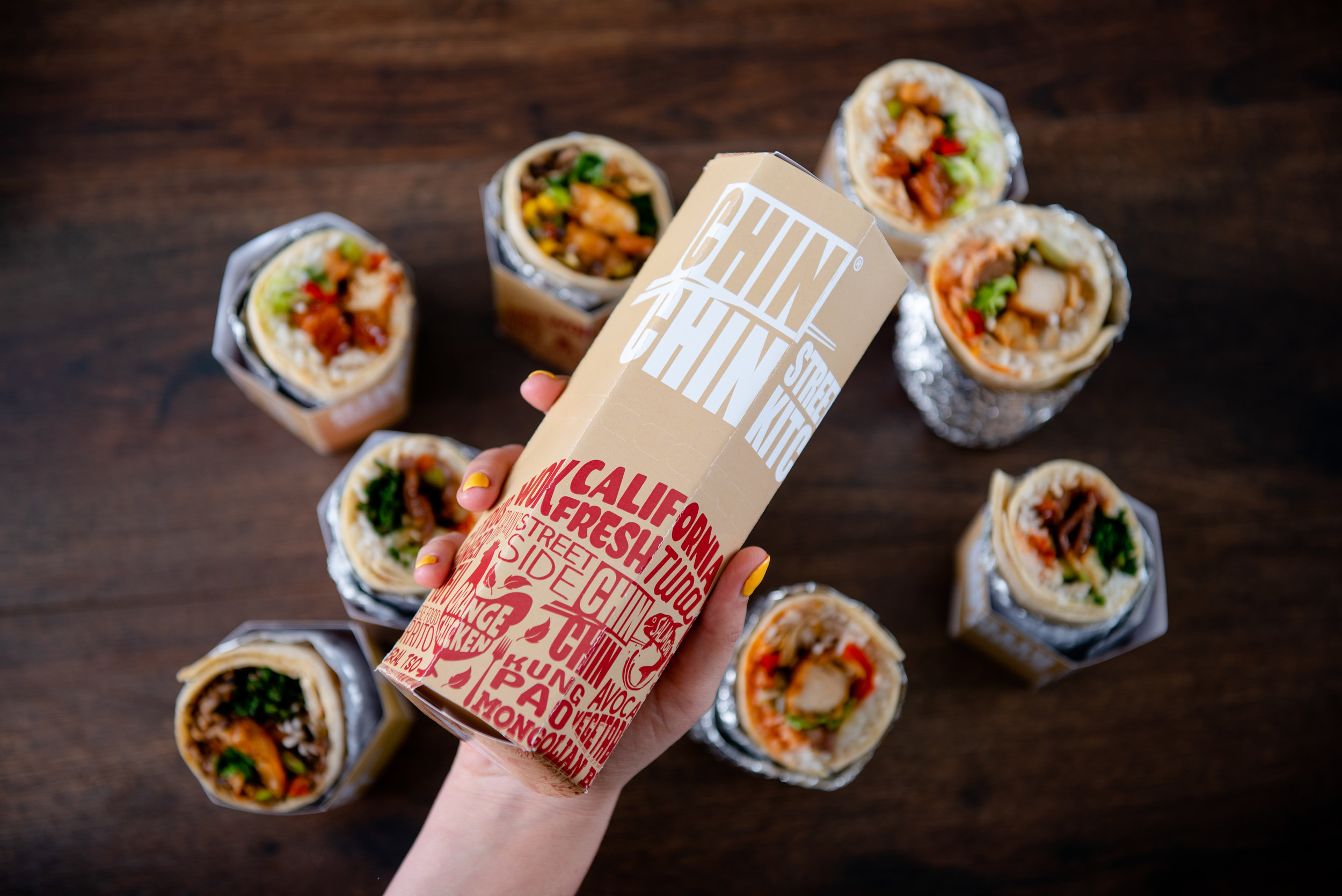 The Chin Chin Street Side Roll - our gluten-free take on a Chinese Food Burrito.