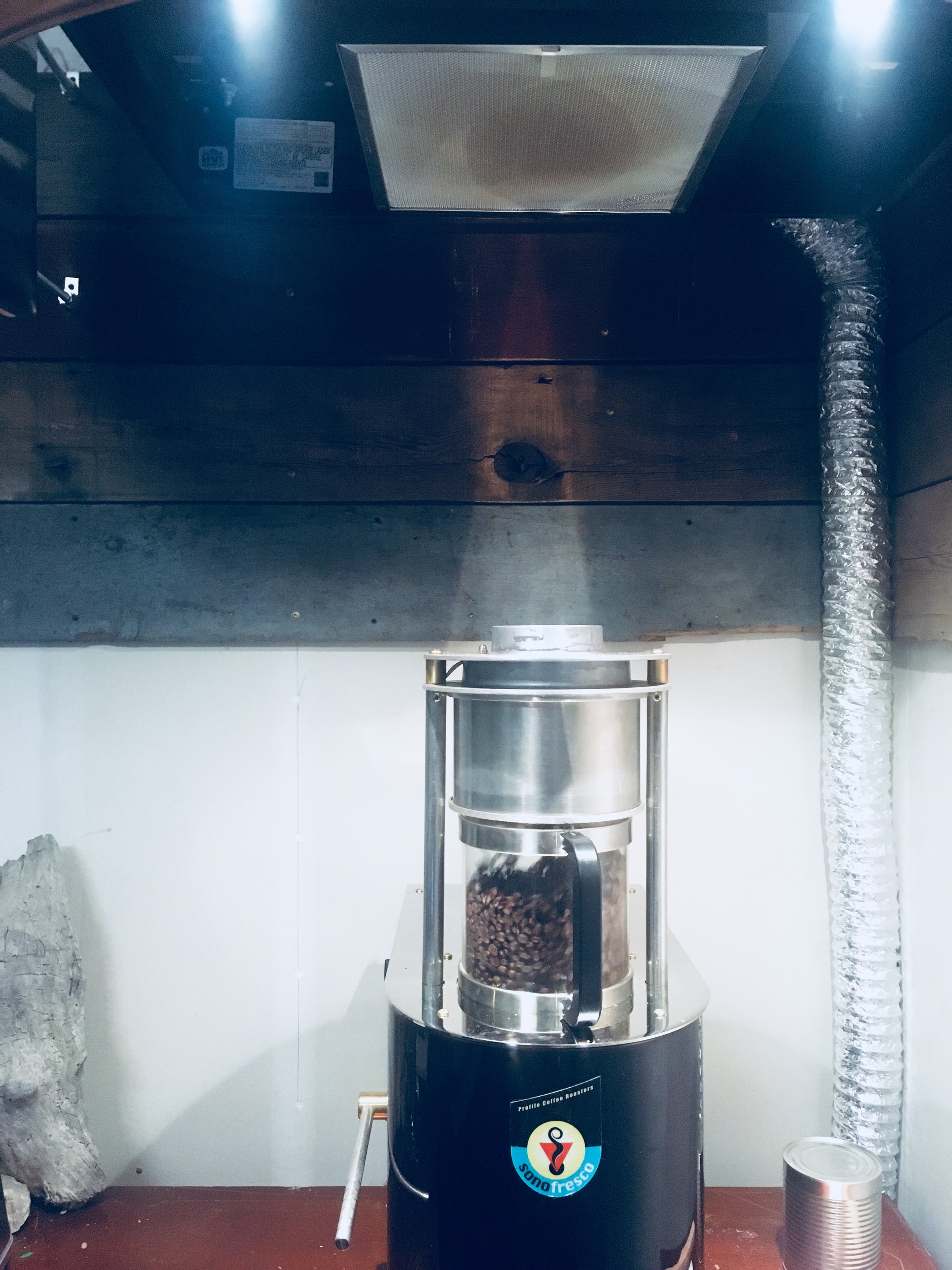 small-batch roasting with the Sono convection-style roaster, through software that allows precise charting of the process, provides accuracy in duplication roast after roast