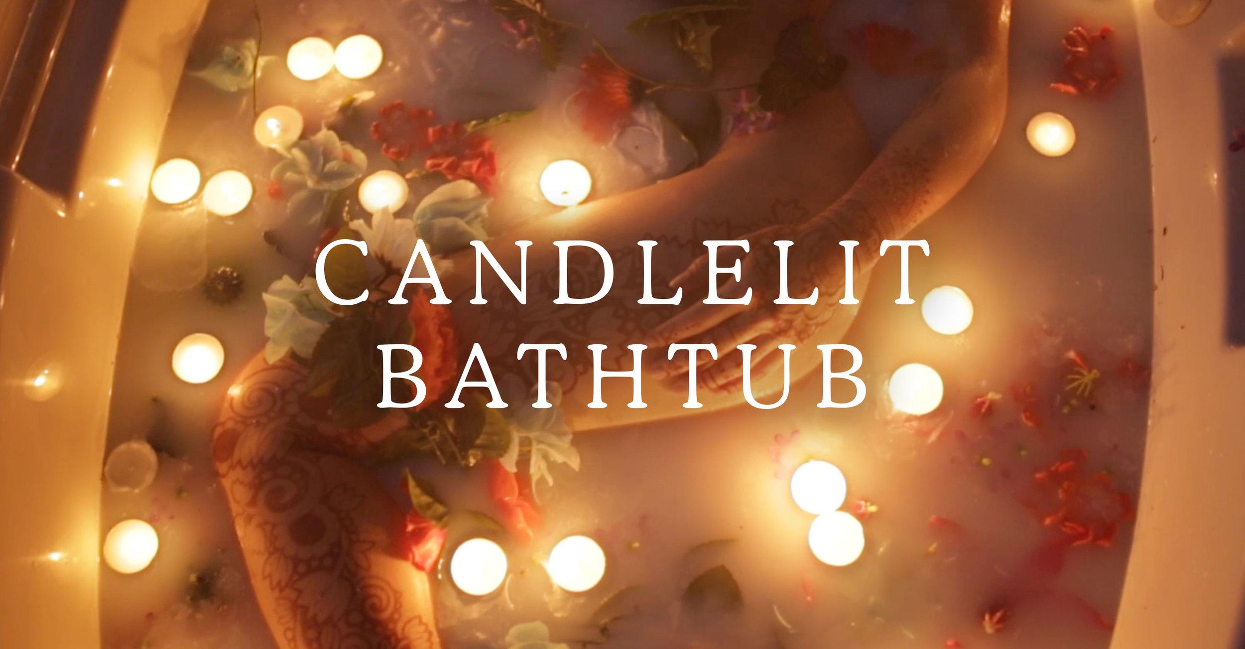 Candlelit Bathtub Photoshoot Title Card