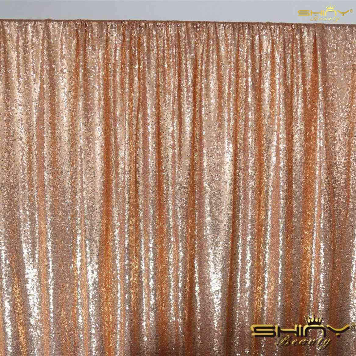 For less than $20, you can get 4x7 feet in most colors for these sequin backdrops! Hang it on a wall for a photo booth, or buy 2 and use a stand for your head table!