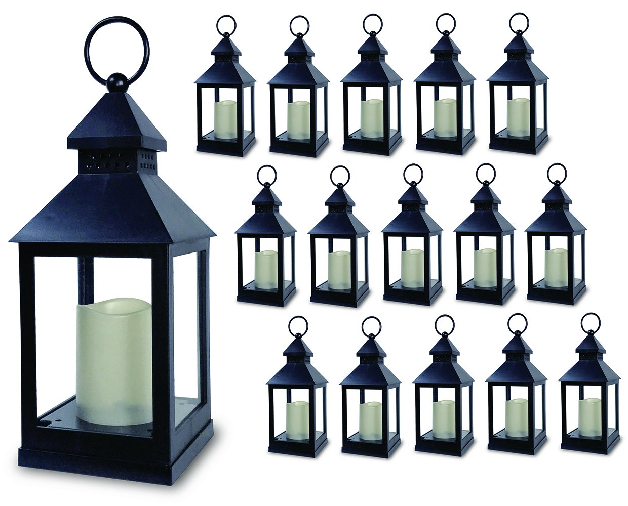 At just over 9 inches tall, you can get 16 of these lanterns for $135! If you're on a really tight budget for centerpieces, these would be pretty sparse. These would be great for an aisle, though!