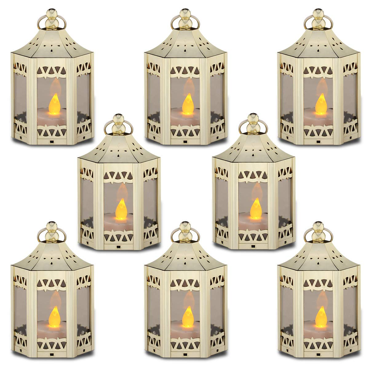 These mini lanterns are perfect for centerpieces! They come in multiple colors and are $20 for 8.