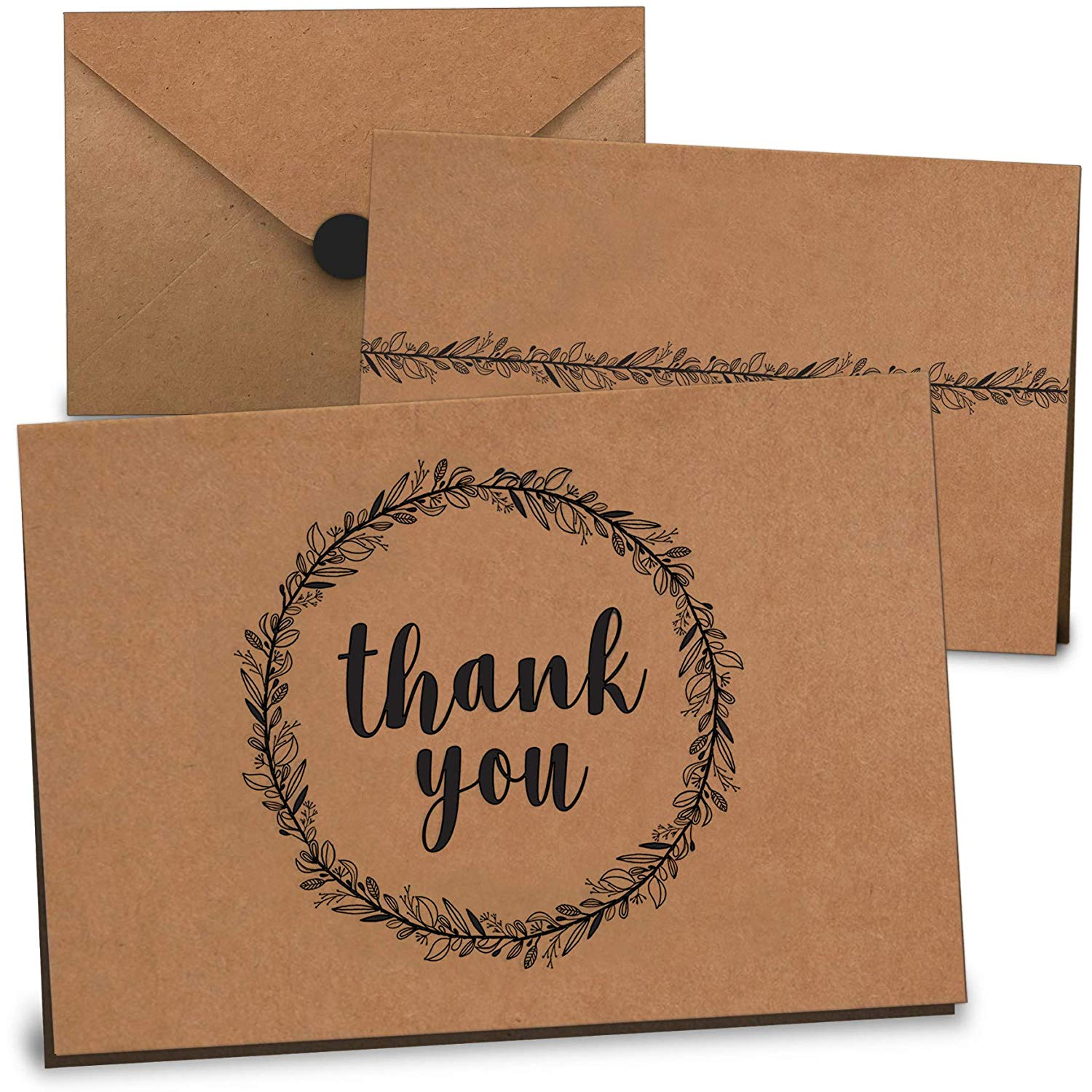 These rustic thank you cards are only $20 for 100!