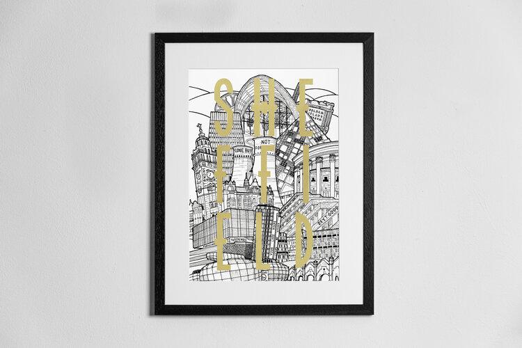 View down Blake Street Limited edition prints Sheffield