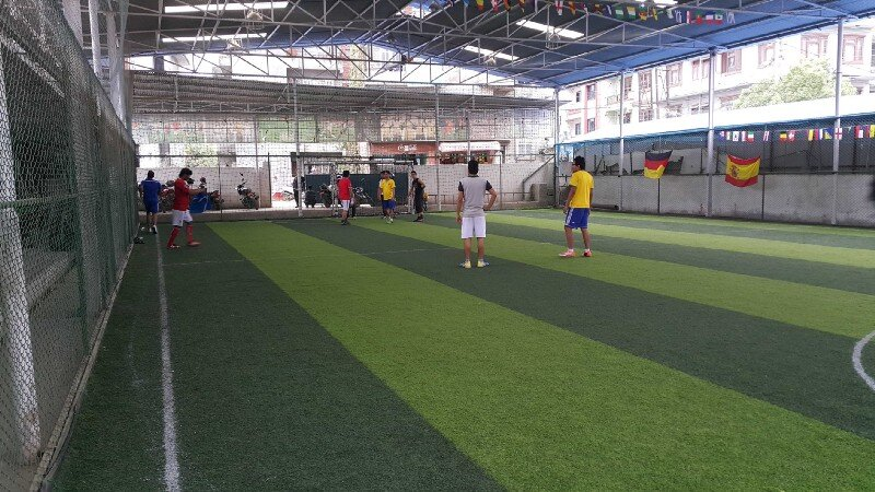 Proshore team playing futsal