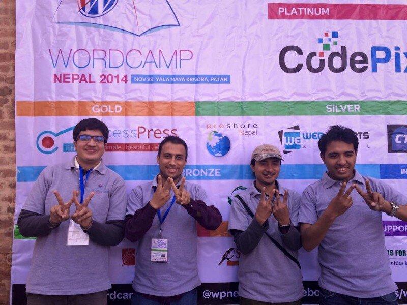Sakar (on the left) with Proshore team in WordCamp 2014