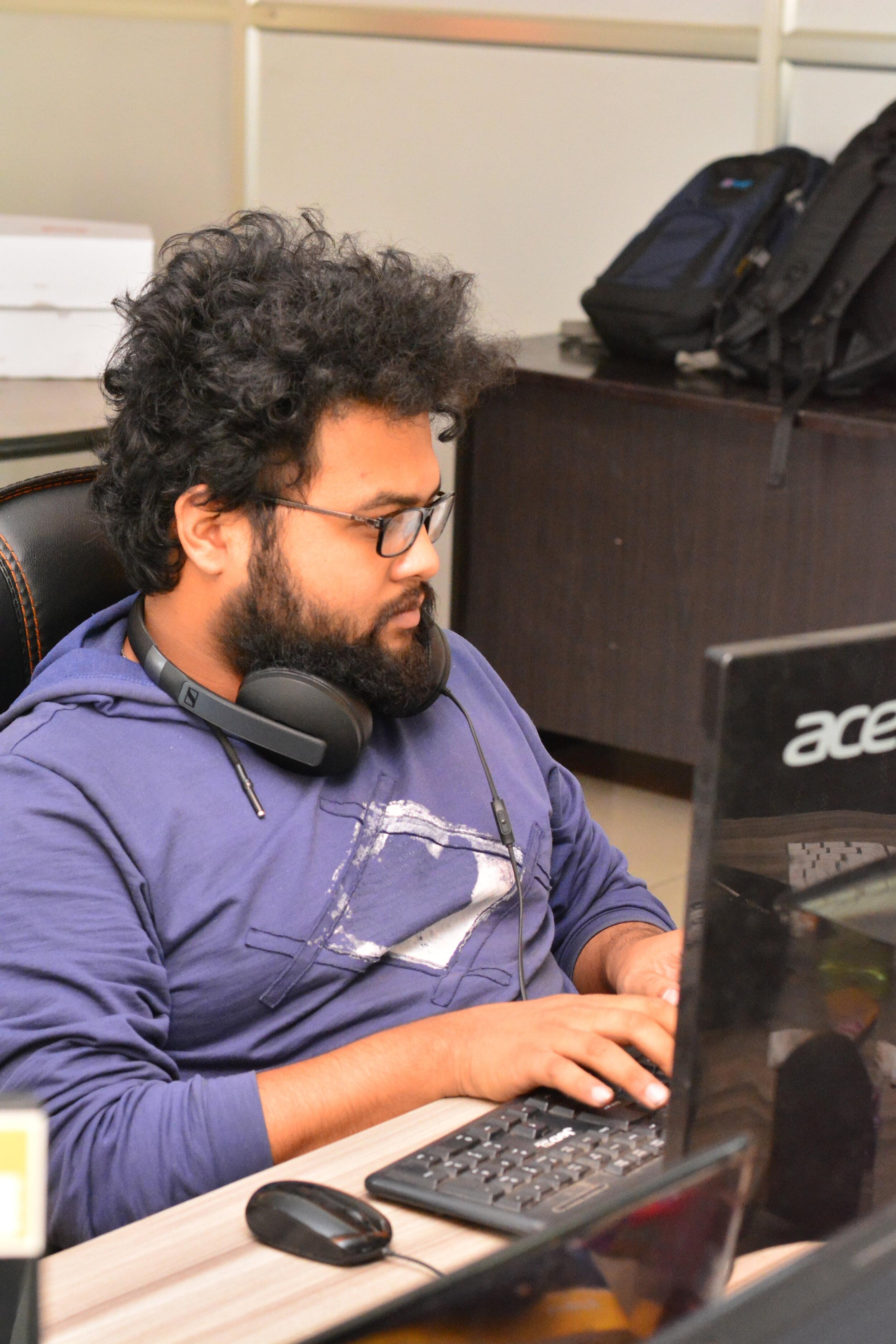 Sheetal at work-space
