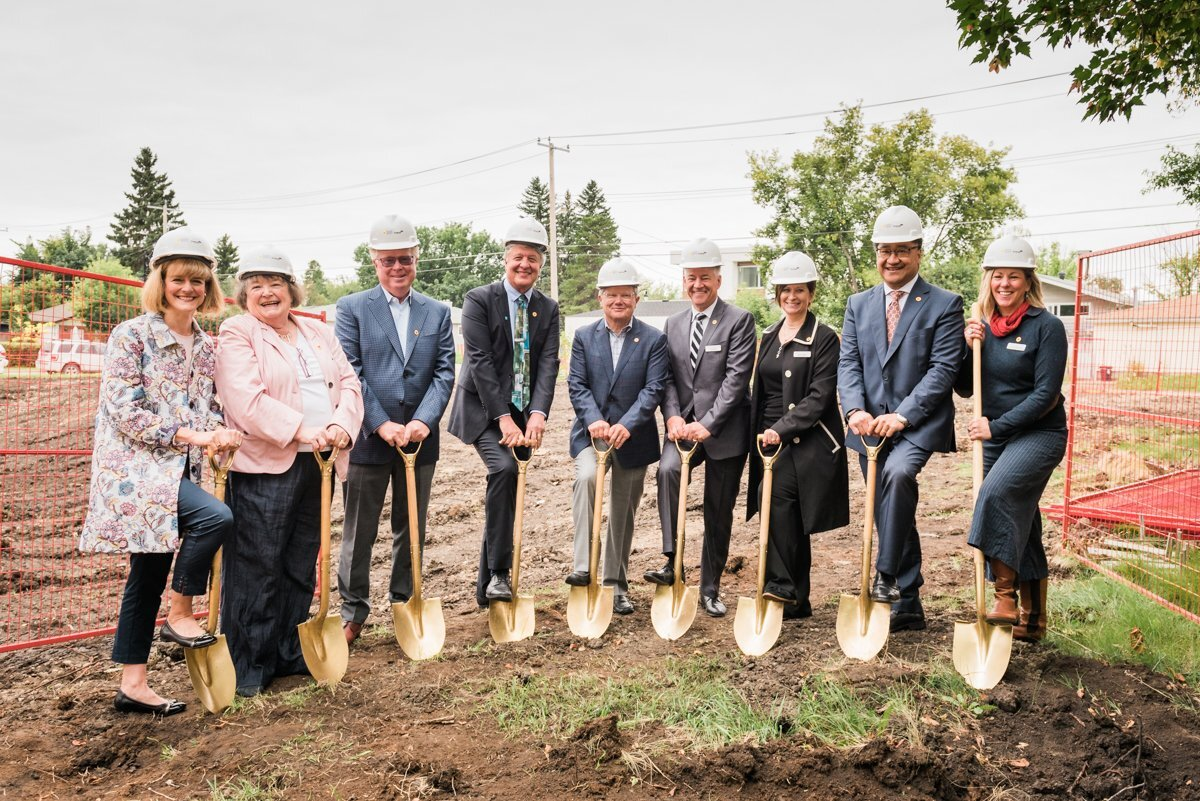 Rick and others attend Pilgrim's Hospice Groundbreaking August 2019. Photo source: CBC